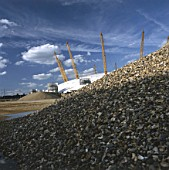 Aggregates and the millennium dome.