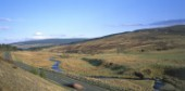 A68 passing through the Cheviot Hills, Northumberland