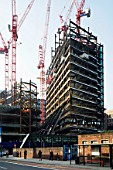 Early stages of construction of Broadgate Tower, London, UK