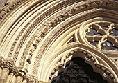 Replacement stonework at York Minster. United Kingdom.