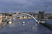 Gateshead Millennium Bridge opening, architect Wilkinson Eyre. United Kingdom.