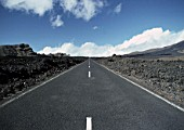 Country road in the area of Playa Blanca, Island of Lanzarote, Canary Islands, Spain