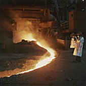Furnace - Pouring Molten Steel in Foundry