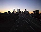 Skyline - city of Atlanta at evening - state of Georgia - USA