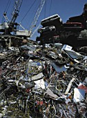 Scrap yard, metal collected for recycling