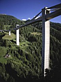 Ganter viaduct - Simplon pass highway - Swiss Alps - canton of Valais - Switzerland