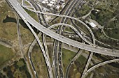 Aerial - highways - state of New York - USA