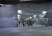 Subterranean shopping mall (architect: Santiago Calatrava) - Stadelhofen station - city of Zurich - Switzerland