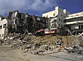 Demolition of building - Island of Mallorca - Balearic Islands - Spain