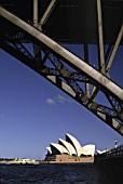 Opera house and harbour bridge - city of Sydney - Australia