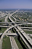 aerial - highways - city of los angeles - state of California - USA