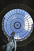 Sculpture under glass dome - office building - city of Paris - France