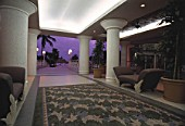 Lobby of hotel Radisson at evening - island of Aruba - islands of the Netherlands Antilles - archipelago of the Lesser Antilles - Caribbean