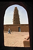 Traditional mud architecture - mosque - city of Agadez - Niger
