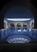 Indoor swimming pool, hotel Aziza, city of Hammamet, Tunisia