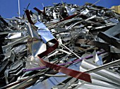 Aluminium at scrap yard