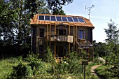 Ecology, single family house with sustainable solar energy (hot water)