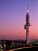 Telemax tower at evening, city of Hanover, county of lower Saxony, Germany