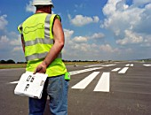 Runway marking, Manchester Airports second runway.