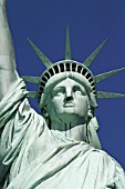 USA, New York City: Statue of Liberty by Frederic-Auguste Bartholdi, symbol of the USA