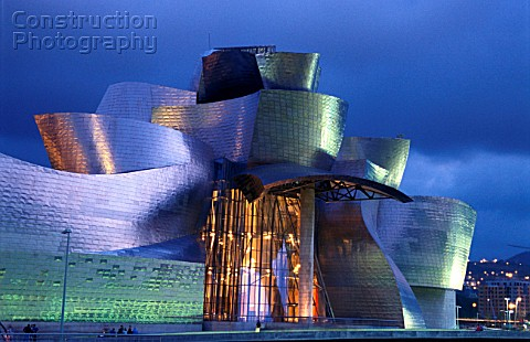 Exterior of Guggenheim Museum Bilbao Spain Designed by Frank Gehry