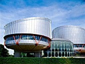 European Parliament, main entrance, Strasbourg France.