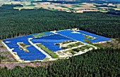 Solar technology in Hemau, Bayern, the worlds biggest aerea for solar energy. Constructed in 2002, Germany