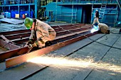Welding in the dockyard