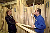 Woman getting advise in a DIY building centre