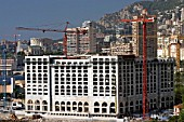 Construction of a large building in Monaco, 2004.