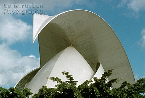 The opera Auditorio of Santa Cruz opened in September 3003 Tenerife Spain Canary Islands Architect S