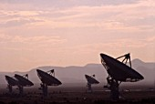 The VLA (Very Large Array Observatorium) in one of New Mexicos observatory where scientists are seeking extraterrestrial life in the universe with the help of radio waves. Magdalena Ridge Observatory, Socorro county, central New Mexico.