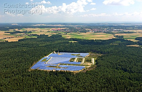 Solar technology in Hemau Bayern the worlds biggest area for solar energy Constructed in 2002 German