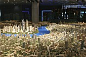 Urban planning maquette for Shanghai, China.