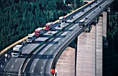 Austria. Brenner Autobahn, bridge near village of Gries; the Brenner Freeway is the most important throughway over the central Alps and connects the Austrian region of Tyrol with the Italian region of Southern Tyrol. The Brenner Freeway has a toll-charge.