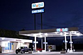 MOBIL petrol station, Arizona, USA.