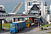 Ferry freight terminal, Fehmarnm Puttgarden, Germany.