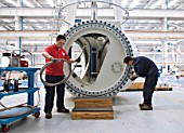 Wind turbine manufacturing, Nantong, Jiangsu, China