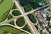 Motorway junction of the A1 and A250, Maschen, Niedersachsen, Germany, aerial view