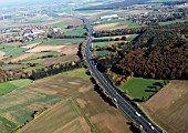 A2 motorway, Hanover, Lower Saxony, Germany, aerial view