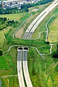 A17 motorway, Sachsen, Dresden, Germany, aerial view