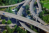 Spaghetti junction, Koblenz, Rheinland-Pfalz, Germany, aerial view