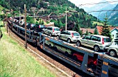 Car transporter train, Switzerland