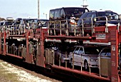 Car transporter train, Germany
