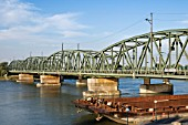 Railway Bridge over River Danube, Vienna, Austria