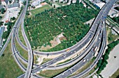 A21 motorway junction on outskirts of Vienna, Austria