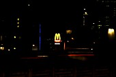 MacDonald sign glowing in the night