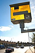 Speed camera box on the north Circular road, London