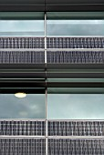 Solar cells on the facade of an office block