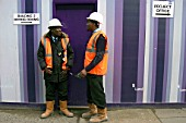 Security guards on a building site